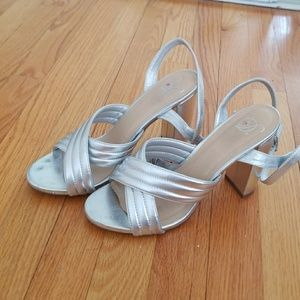 Silver shoes for dress